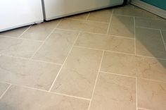 rectangular tile floor patterns | That half of it is under the washer and dryer!! :)