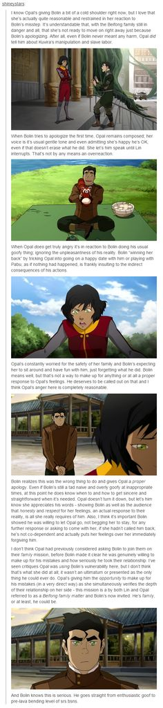 Bolin and Opal commentary. I whole heartedly agree! I love Opal this season and I love seeing this more adult love play out.