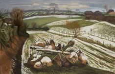 John Nash - Melting Snow at Wormingford. BBC - Your Paintings. Paintings I Love, Your Paintings, Landscape Art, Landscape Paintings, Seascape Paintings, Aberdeen Art Gallery, John Nash, English Artists, British Artists