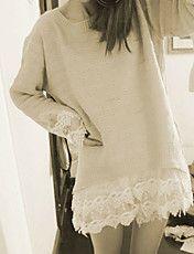 Women's Lace Crochet Splicing Sweater – USD $ 19.79