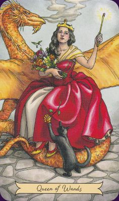 Queen of Wands, Everyday Witch Tarot