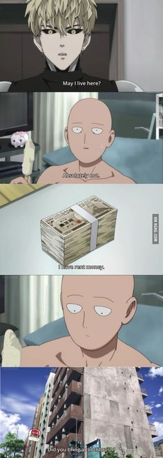 Not even Saitama himself can resist money.