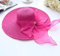 Women's Fashion Large Wide-Brim Bownknot Floppy Summer Beach Hat 7 Colors #HatsForWomenFloppy