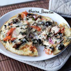 Supreme Omelette Pizza - Cafe Delites