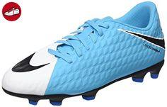 Nike Unisex-Kinder Jr Hypervenom Phade Iii FG Fußballschuhe, Blau (White/Black-Photo Blue-Chlorine Blue), 31.5 EU - Nike schuhe (*Partner-Link)