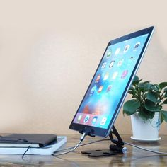 the new iPad and most other Tablets G-VO Foldable Table Stand For iPad iPad2