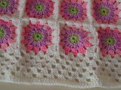 Pembe+çiçekli+bebek++battaniyesi