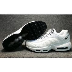 low priced 989d1 7641e Nike Air Max 95 White Black on We Heart It