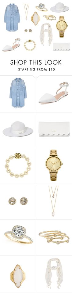 Street Style No.6 by autumn-fox on Polyvore featuring Best Society, Kate Spade, Oasis, With Love From CA, EF Collection, HEATHER BENJAMIN, Allurez, Chanel, London Road and Olive & Pique