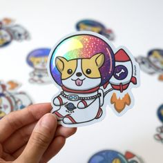 Check out our laptop stickers selection for the very best in unique or custom, handmade pieces from our laptop shops. Laptop Stickers, Cute Stickers, Animal Drawings, Cute Drawings, Logo Inspiration, Planet Logo, Illustrator, Pin And Patches, Cute Pins