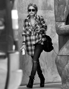 Fall Outfit: Oversized Flannel Shirt + ...