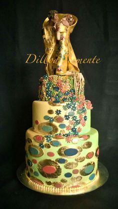 Gustav Klimt Cake - Il Bacio http:///twitter.com/DilloDolcemente https://www.facebook.com/dillo.dolcemente.5