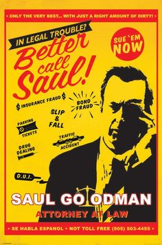 Breaking Bad Better Call Saul Maxi Poster