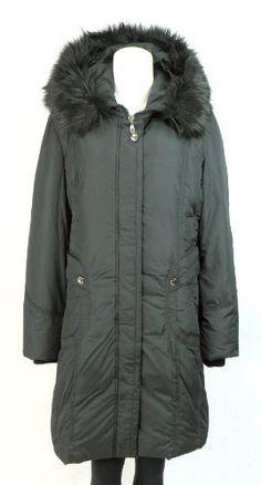 Balimel Women's Plus Size Down Fill Jacket - Faux Fur Trim Hoody Coat - Black 1X Balimel. Save 50 Off!. $165.00
