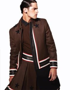 Dansk - OHHH'PRY Sean O'pry, Men Wearing Skirts, Fashion Tape, High Fashion, Male Fashion, Givenchy Man, Men In Kilts, Italian Fashion Designers, Androgynous Fashion