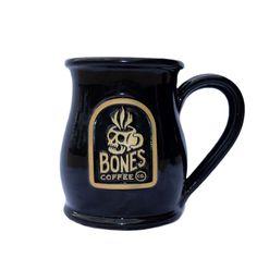 Skull Logo Handthrown Mug from Bones Coffee Company
