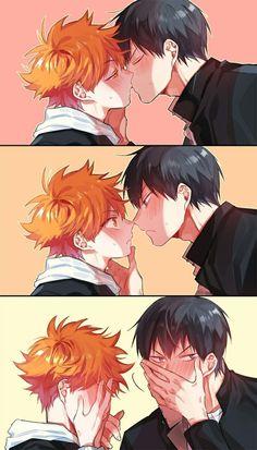 KageHina Kiss