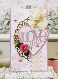 With All My Heart Revisited: Love You Card by Melissa Phillips for Papertrey Ink (February 2015)