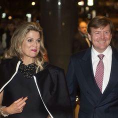 20-03-2015 Koningin Maxima en Koning Willem-Alexander in het Concertgebouw in Amsterdam.