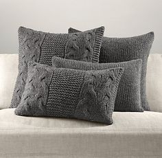 Pillows & Throws | Restoration Hardware  Cool - wool and alpaca  handfinished in Italy  co$t: 80