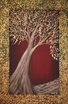 TREE OF LIFE - by LUIZA VIZOLI from ORIGINAL MIXED MEDIA ART
