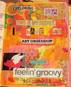 Documented Life Challenge #3 art journal page in a Moleskine Planner by Rachel Mims rachelmims.blogspot.com