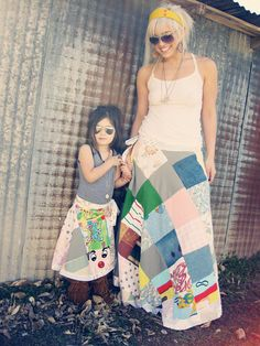 you send in the fabric scraps and they make the mommy & me skirts for you.  So so fun! @poorpitifulpearl