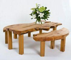 田园气息原木桌椅