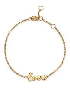 132.00$  Watch now - http://vikbm.justgood.pw/vig/item.php?t=t94b7xh3983 - Jennifer Zeuner Addison Cursive Love Bracelet 132.00$