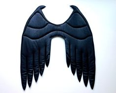 Large black horned wings available here: https://www.etsy.com/listing/232079829/dark-fairy-wings-large-black-cosplay