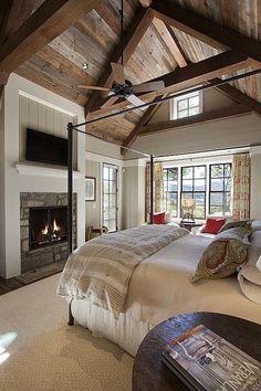 Schlafzimmergestaltung Mit Dachschräge Dunkle Wandfarben Kronleuchter |  Dekoration Haus | Pinterest | Bonus Rooms, Basements And Lofts