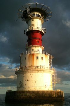 The Kish Lighthouse, Dublin, Ireland- by PaulODonnell