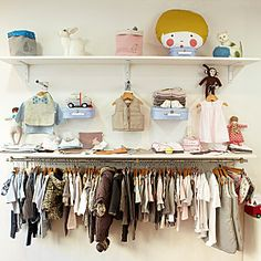 Little Sweet Bambi store interior, kids clothing and room accessories. C'est la boutique pour les petits et les grands à Versailles.