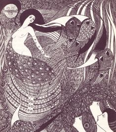 Etchings by Attila Sassy (1880–1967) for his Opium Dreams, 1909. Published under the pseudonym Aiglon.