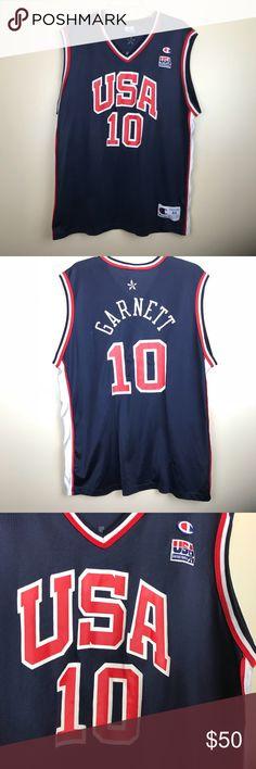 Men s USA basketball jersey - Kevin Garnett - men s large - no pulls or  tears MEASUREMENTS Shoulder to hem Armpit to armpit Champion Shirts Tank  Tops 12fed8aaa