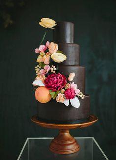 Unusual Chocolate Wedding Cake