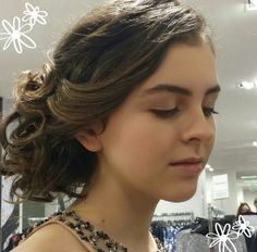At the prom fashion show created a soft natural look using MAC makeup