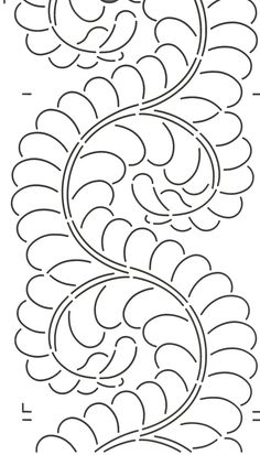 Quilt Stencil Feather Border - 8in. Use with stencil 422QC.