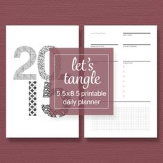 Tangle-a-Day Printable Perpetual Planner Pack by sassyplanners Daily Planner Printable, Tangled, Packing, Printables, Day, Projects, Roll Ups, Bag Packaging, Rapunzel