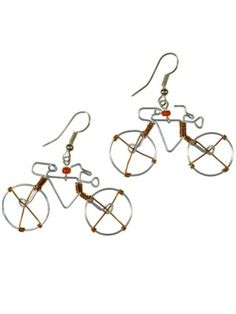 Fair-trade Wire Bicycle Earrings
