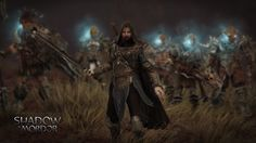 Some screenshots from Shadow of Mordor: Dark Ranger Talion skin gameplay