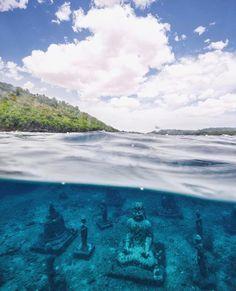Nusa Cenigan, underwater buddahs