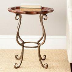 Safavieh Lorraine Scalloped Side Table - AMH4001A, Durable