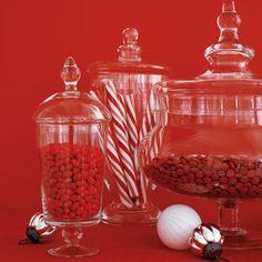 Red Candy Jar Decor