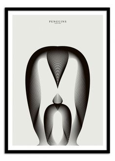 Art-Poster Wall Editions : Penguin, by Andrea Minini. Format : 50 x 70 cm. #animal #penguin #illustration #poster #print #art #walleditions