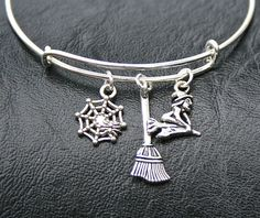 Halloween Silver Bangle Bracelet  Alex and Ani by MyInitialCharm, $15.95
