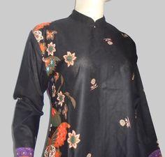 Baju Batik Tunik Hitam [1165] Dekat