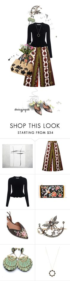 """""""patterned pants outing"""" by daizyjayne ❤ liked on Polyvore featuring Valentino, 10 Crosby Derek Lam, Edie Parker, Tabitha Simmons, BOBBY, Rosita Bonita, Kate Spade, Tory Burch and contestentry"""
