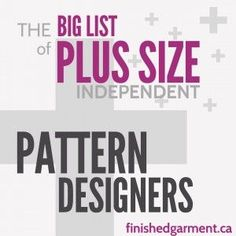 Sewing Techniques Couture Companies that make plus size, curvy, or full-figured sewing patterns for women and men, ordered by largest size available. Sewing Hacks, Sewing Tutorials, Sewing Crafts, Sewing Projects, Sewing Tips, Sewing Men, Sewing Ideas, Beginners Sewing, Free Sewing