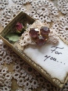 sweet little matchbox gift (or a place to store a treasured dried bloom and change to 'from you')